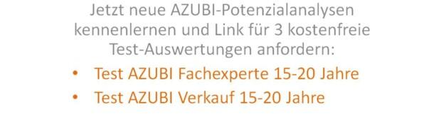 AZUBI Potenzialanalysen kennenlernen – kostenlos bis 30.09.2017