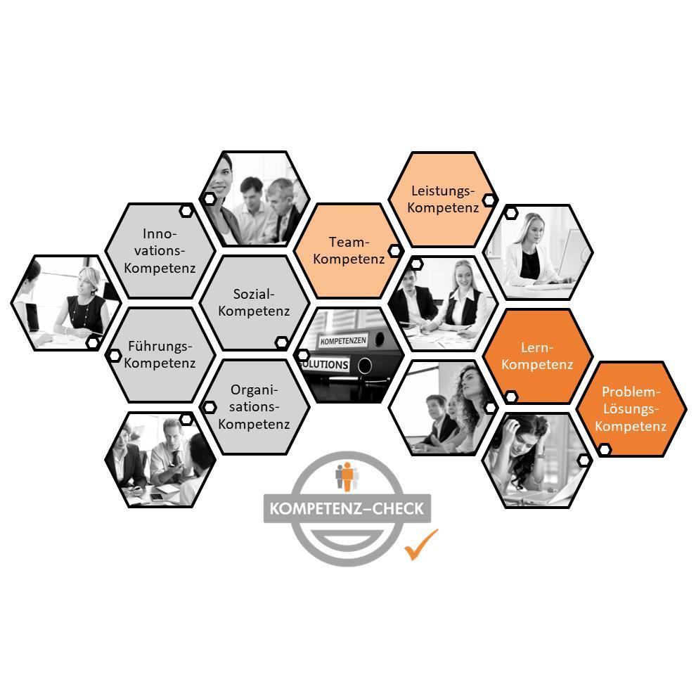Bild KOMPETENZ-CHECK Potenzialanalysen Kompetenz-Waben
