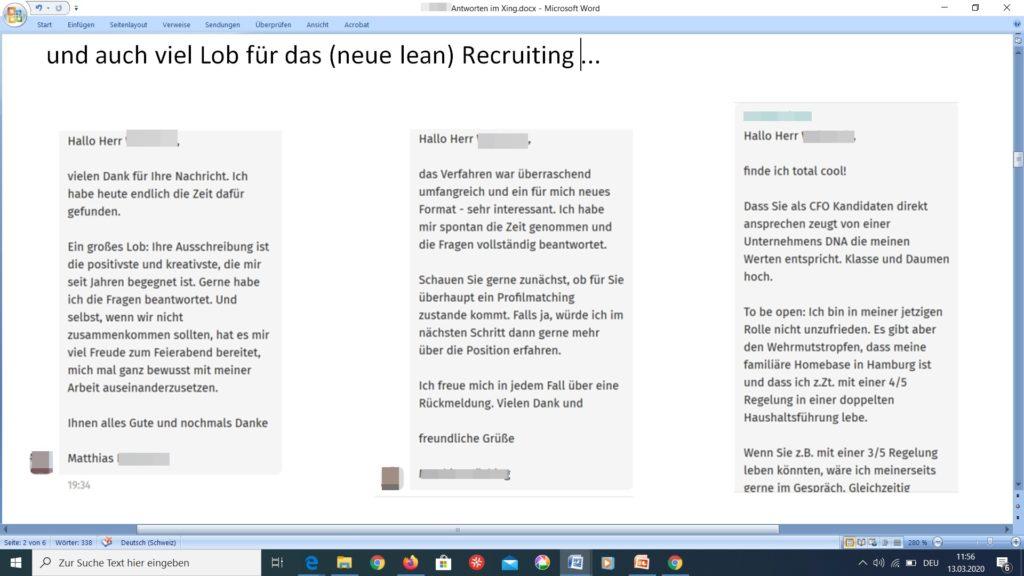 Warum Bewerber vom Lean Recruiting-Prozess begeistert sind