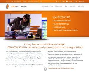 Webseite Lean Recruiting.ch
