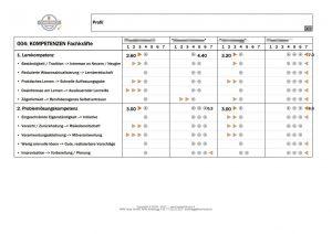 KOMPETENZEN Potenzial-Profil-Vergleich (Auszug)