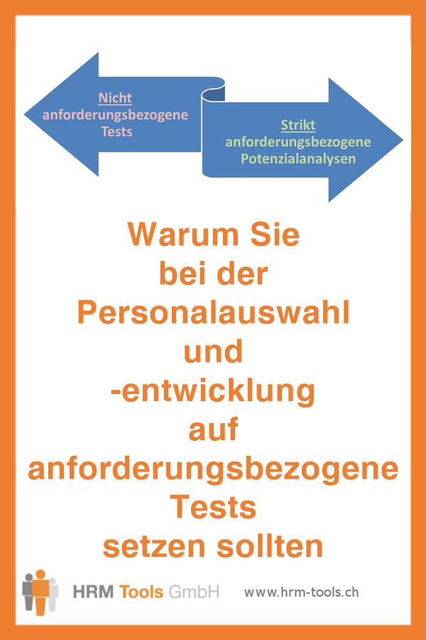Anforderungsbezogene Eignungstests für die Personalauswahl und Personalentwicklung