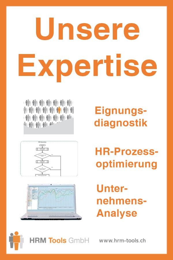 Unsere Expertisen im Überblick: Eignungsdiagnostik, HR-Prozessoptimierung, Unternehmensanalyse