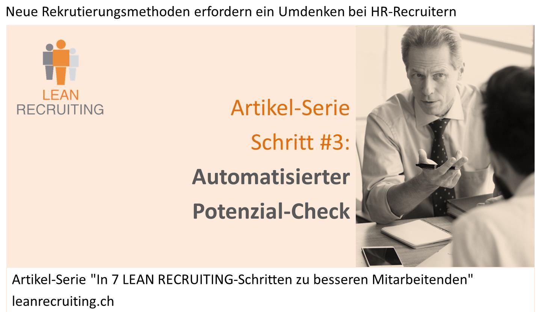 Bild_Artikel-Serie Lean Recruiting Schritt 3 Potenzial-Check