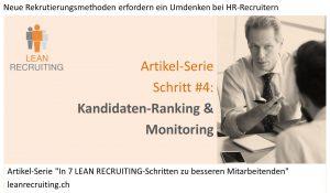 Bild_Artikel-Serie Lean Recruiting Schritt 4 Kandidaten-Ranking & Monitoring