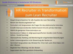 Aufgabenliste eines Lean Recruiters