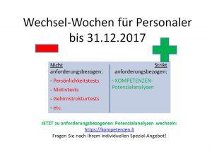 Bild Wechsel-Wochen für Personaler Kompetenz-Check.ch